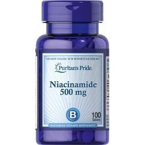 Niacinamide 500 Mg Vitamina B3 100 Tabletas