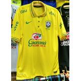 Camisa Polo Do Brasil Amarela Seleção Brasileira Rusia 2018