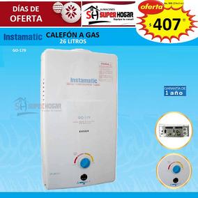 Calefon A Gas Instamatic 26 Litros Nuevo 100% Originales L