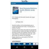 Dicionário Aurélio Para Smartphone E Tablet Com Android