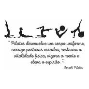 Adesivo Parede Frase Joseph Pilates Posturas Exercícios Bola