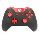 Una Xbox Modded Controlador Negro Y Rojo - Xbox 1 - Maestro