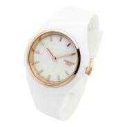 Reloj Knock Out Mujer 8469 Silicona Wr Metal Marmolado