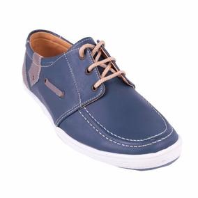 Zapato Apache Azul Con Beige Original 100% Nacional Garantiz