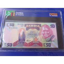 Billete Zambia 50 Kwacha 1992 Hermoso En Coleccionador Nuevo