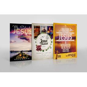 80 Flyers Panfletos Gospel Evangélico Cristão Editáveis Psd