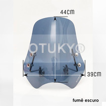 Para-brisa Universal Intruder 125 250 Suzuki Otuky A700 Fumê
