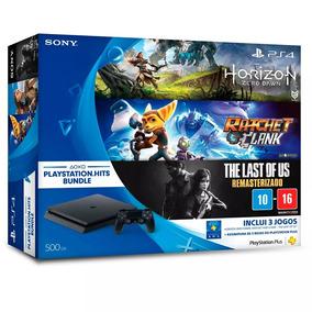 Playstation 4 Ps4 3 Jogos Horizon Zero Dawn + The Last Us E+