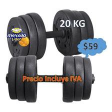 Pesas Mancuerdas 20kg  Kit Gimnasio Regulables