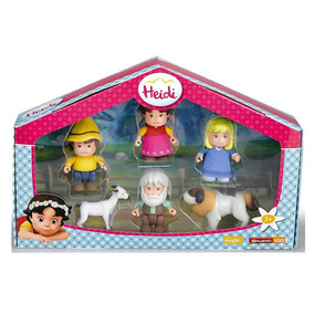 Oferta Set Muñecos Heidi + Abuelo + Pedro + Clara + 2 Mascot