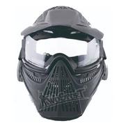 Careta Gotcha Mascara Paintball Negra Certificada Airsoft