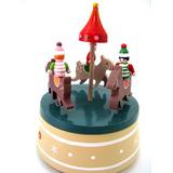 Caja Musical Navidad Caballos Papa Noel Calesita Juguete