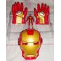 Guantes Iron Man Pvc + Mascara Set X 4 ¡¡¡¡liquido¡¡