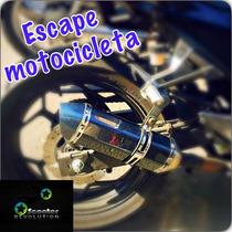 Escape Deportivo Moto Motoneta Italika Yamaha Honda Kawasaki