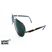 Lentes De Sol Montblanc Aviator Iron Hd Polarized Av0107