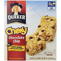 Quaker Barras De Chocolate Chip Granola 8 Ct - 0,84 Oz Cada