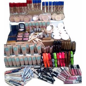 Combo De Maquillaje Navideño 48 Pzas Revendedores Compactos