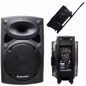 Caixa De Som Ecopower Ep-1291 350w Rms Falante +2mic/s Fio
