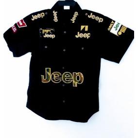 Camisa Jeep Negra Escuderia F1 Racing Formula 1 Nascar
