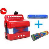 Mini Acordeon Para Niños, 7 Acordes 2 Bajos + Caleid. Y Armo