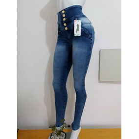 Calça Jeans Corpete Feminina Com Elastano Super Linda
