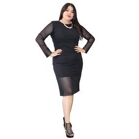 Vestido Ajustado Tallas Extra Grandes Cierre Separable 10020
