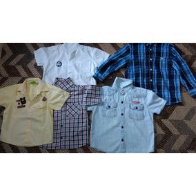 Lote - Camisas, Calça E Bermuda Jeans Menino - Tamanho 4