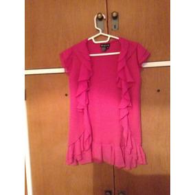 Sweater Camisa Gasa Fuccia Rosa Cardigan Importado