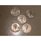Monedas De 20 Centavos, Madero, Lote De 5 Monedas