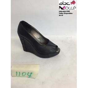 Zapatos Plataforma Dedos En Puro Cuero - Envíos Gratis