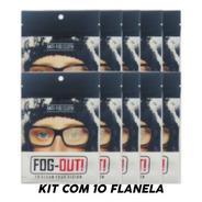 Kit C/10 Flanela Com Efeito Antiembacante P/ Oculos Ate 36h