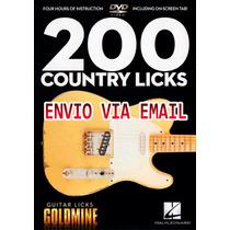 Video Aula 200 Guitar Licks De Guitarra Country