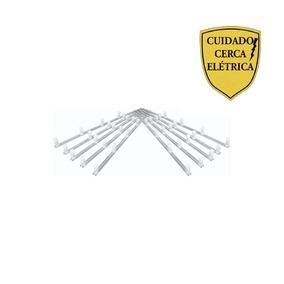 Kit C/ 10 Hastes De Alumínio Tipo M Cerca Elétrica + Brinde