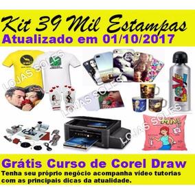 Kit 39 Mil Estampas Sublimação Camiseta Caneca Chinelo Vetor