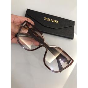 Oculos Feminino Solar Prada Marrom Novo Lente Máscara