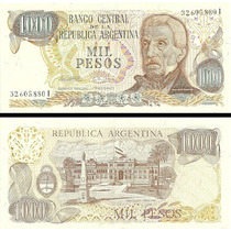 Billete $ 1000.- República Argentina.bottero.circulado B/est