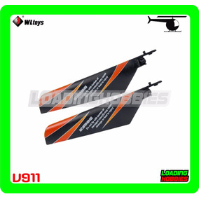 Palas / Aspas Negras Para Helicoptero Wl V911 V911-02