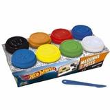 Massinha Play Doh Hot Wheels 8 Potes Com Molde 50g Cd