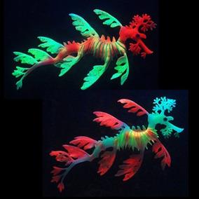 Par Enfeite Silicone Aquario Peixe Dragão Do Mar Sea Dragon