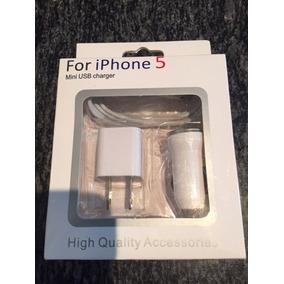 Cargador 3en1 Para Iphone 5 ,6 ,6s, 7