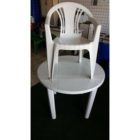 10 Jogos Mesas Redonda Desmontável C/40 Cadeiras De Plástico