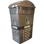 Estación De Reciclaje Set 2 Tachos De Basura 60 Lts T/vaivén
