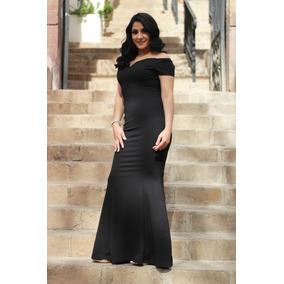 Vestido De Fiesta Largo Negro De Noche Sexys Para Mujer