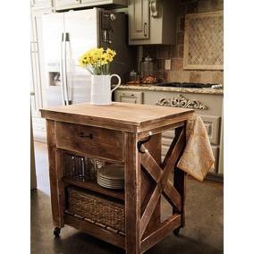 Mesa auxiliar cocina mesas de cocina de madera en for Mesa auxiliar isla de cocina