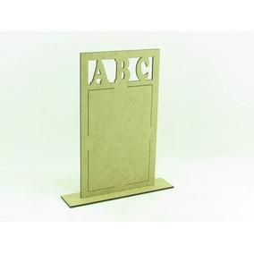 50 Porta Retrato Abc Formatura Lembrancinha Em Mdf Cru