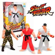 Boneco Grande Street Fighter Capcom 48 Cm Ryu Ken Ou Guile