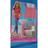 Barbie Set Accesorios De Baño