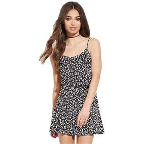 Hermoso Vestido Seda Artificial Forever21 Importado Original
