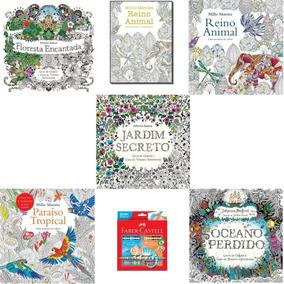Kit 6 Livros Jardim Secreto Paraíso Oceano Perdido +3+ Faber