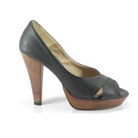 Zapato Lucerna Cuero Taco 11cm Liquido!